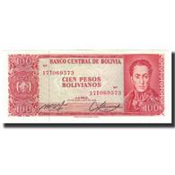 Billet, Bolivie, 100 Pesos Bolivianos, 1962-07-13, KM:163a, NEUF - Bolivie
