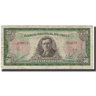 Billet, Chile, 50 Escudos, 1973, KM:140b, B+ - Chile