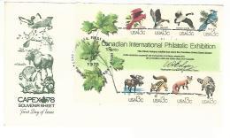 55776 ) USA Toronto Capex Souvenir Sheet Postmark 1978 First Day FDC - Storia Postale