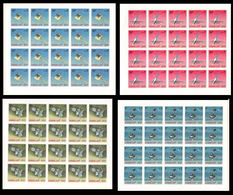 MANAMA 1968 Space American Satellites IMPERF.COMPLETE SHEETS:4 (4x20 Stamps) U [non Dentelé, Geschnitten] Russia-related - Space
