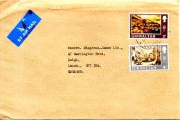 GIBRALTAR. Timbres De 1971 Sur Enveloppe Ayant Circulé. Vues De Gibraltar. - Gibraltar