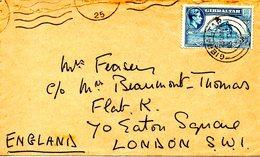 GIBRALTAR. N°107 De 1938-47 Sur Enveloppe Ayant Circulé. Pointe D'Europe. - Gibraltar