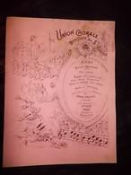Menu - Union Chorale De Moulins (03) - Banquet De Ste Cécile - 1890 - - Menus