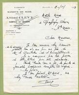 """HARREVILLE-LES-CHANTEURS (52) : """" FABRIQUE DE SABOTS DE BOIS """"  1947 - France"""