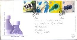 HEALTH-PATIENTS TALE-TEST TUBE BABY-PENICILLIN-NURSING Etc-GREAT BRITAIN-FDC-COMMERCIALLY USED-BX1-381 - Santé