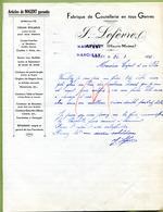"""MARCILLY  (52) : """" COUTELLERIE J. LEFEVRE """"  1937  ( APREY ) - France"""