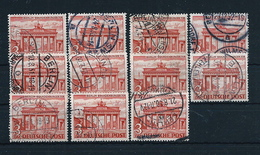 Germany , BERLIN , Michel-No. 59 , Nice Lot With 11 Pieces (as Per Scan , VFU) - Oblitérés