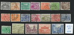 Germany , BERLIN , Michel-No. 42-60 , Complete Set Of The 1949 Defins (as Per Scan , VFU) - Oblitérés