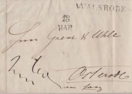 Brief Gel. Von L1 Walsrode 18.3. 1831 Nach Osterode - Deutschland