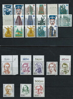 Germany , FRG , Nice Mint Lot With Modern Defins , Years 1987-1989 , Mint   (as Per Scan ) - Neufs