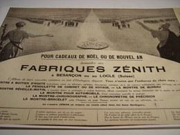 ANCIENNE AFFICHE PUBLICITE FABRIQUE DE MONTRE ZENITH 1915 - Autres