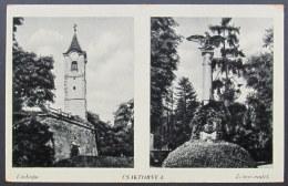 Croatia / Hungary: Csáktornya (Cakovec / Tschakturn), Castle Detail And Zrínyi Monument  1942 - Croacia