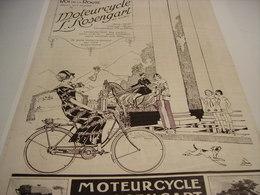 ANCIENNE AFFICHE PUBLICITE CYCLES MOTEUR CYCLE ROSENGART  1923 - Motos
