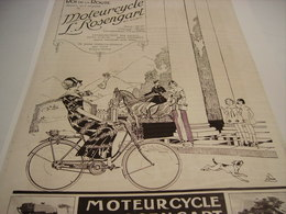 ANCIENNE AFFICHE PUBLICITE CYCLES MOTEUR CYCLE ROSENGART  1923 - Motor Bikes