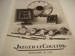 ANCIENNE PUBLICITE COLLECTION JAEGER-LECOULTRE 1938 - Autres