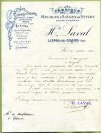 """LIFFOL-LE-GRAND  (88) : """" FABRIQUE DE MEUBLES ET SIEGES - H. LAVAL """"  1910 - France"""