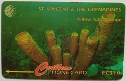 101CSVA Yellow Tube Sponge EC$10 - St. Vincent & Die Grenadinen