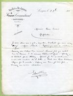 """LANGRES  (52) : """" VINS & SPIRITUEUX - CARMANTRAND """"  1901 - France"""