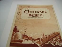 ANCIENNE PUBLICITE UNE GATERIE CHOCMEL DE KOHLER - Posters