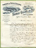 "LIFFOL-LE-GRAND  (88) : "" FABRIQUE DE SIEGES SCULPTES - THOMAS-GILLOT & Fils ""  1907 - France"