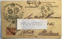 1902 FARMACIA E DROGHERIA OSPEDALE CIVILE CUNEO DIR. BASSIGNANO E MACARIO / Apotheke / Drugstore / Pharmacie - Salute