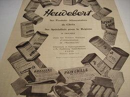 ANCIENNEAFFICHE  PUBLICITE PRODUITS ALIMENTAIRES  HEUDEBERT 1923 - Posters