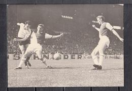 """Football  RACING- MONACO Au PARC... En Coupe De France  """" GRILLET-LUDO-NOVAK...""""  Photo A.D.P. 18cm X 13cm  Le 12 5 1961 - Sports"""