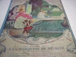 ANCIENNE AFFICHE PUBLICITE CHOCOLAT LA MARQUISE DE SEVIGNE DE ROYAT 1914 - Chocolate