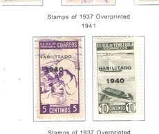 Venezuela PO 1941 Ovpr.1940 Scott.376+377+See Scan On Scott.Page - Venezuela