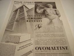 ANCIENNE PUBLICITE POUR CONSTRUIRE UNE RACE SOLIDE OVOMALTINE 1941 - Posters