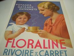 ANCIENNE AFFICHE PUBLICITE POTAGE FLORALINE RIVOIRE & CARRET 1941 - Posters
