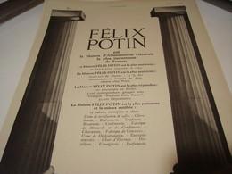 ANCIENNE AFFICHE PUBLICITE LA MAISON FELIX POTIN  1941 - Posters