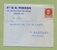 """PERFORE """" P """"  Pour """" ETS O. PIERSON """"  PARIS 1942 - Perforés"""