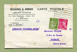 """PERFORE """" M.H. """"  Pour """" MESSAGERIES HACHETTE """"  (ANCOPER HM 53)   PARIS 1940 - Perforés"""