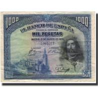 Billet, Espagne, 1000 Pesetas, 1928-08-15, KM:78a, TTB - [ 1] …-1931 : Premiers Billets (Banco De España)