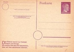 Allemagne Deutschland Entier Postal Deutsches Reich Adolf Hitler - Allemagne