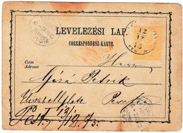 Entier Postal 1873 Hongrie Budapest Magyarország - Postwaardestukken
