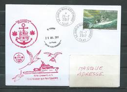 B.2.M CHAMPLAIN - Iles éparses - Escale à JUAN DE NOVA  26/07/17 Sur Timbre Des TAAF - Postmark Collection (Covers)