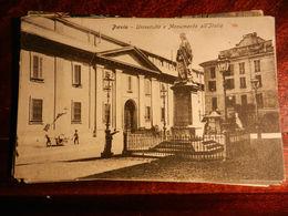 15100) PAVIA UNIVERSITA E MONUMENTO ALL'ITALIA VIAGGIATA 1911 NON COMUNE - Pavia