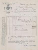 16 2176 COGNAC CHARENTE 1897 Maison L. TEILLIARD A SAUVION - 1800 – 1899