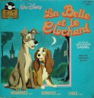 45T VINYLE-257-WALT DISNEY-LA BELLE Et Le CLOCHARD-1976 - Children