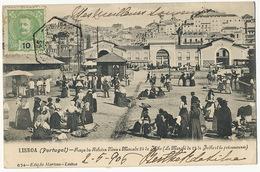 Praça Da Ribeira Nova Lisboa Y Mercado . Le Marché Et La Poissonnerie - Lisboa