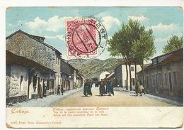 Cetinje Vue De La Partie Moyenne De La Ville. P. Used Trieste To Ismailia - Montenegro