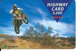 Carte Prépayée Japon Moto Trial Sport  (D 301) - Motos