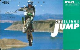 Télécarte Japon Moto Trial Challenge JUMP Sport  Phonecard (D 302) - Motos