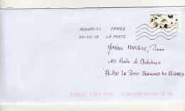 Enveloppe Oblitération LA POSTE 18048A-01 30/03/2018 - Marcophilie (Lettres)
