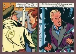 """JACOBS  - """" LA MARQUE JAUNE """"  : Lot De 9 Cartes Postales - Editions LOMBARD 1984 - Comics"""