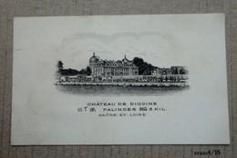 Ancienne Petite Carte   Du Chateau De DIGOINE - PALINGES  ( Saône Et Loire) - Cartes De Visite