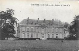Cpa  49 Martigné Briand , Château De Flines, écrite 1922 - France