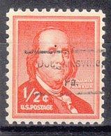 USA Precancel Vorausentwertung Preo, Locals Pennsylvania, Douglasville 809 - Vereinigte Staaten